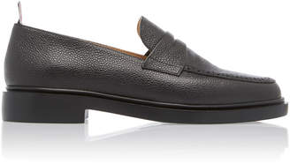 Thom Browne Pebble-Grain Leather Penny Loafers