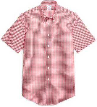 Brooks Brothers Non-Iron Regent Fit Gingham Short-Sleeve Sport Shirt