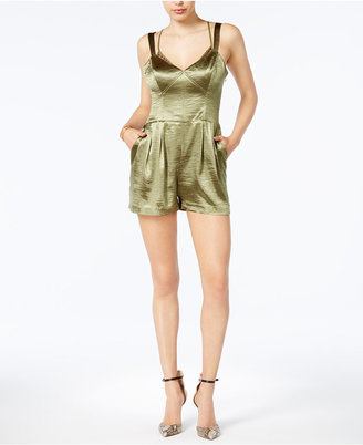 Guess Christian Metallic Romper $98 thestylecure.com