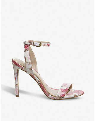 Office Alana floral leather heeled sandals