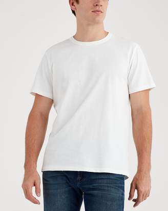 7 For All Mankind Short Sleeve Vintage Tee in White