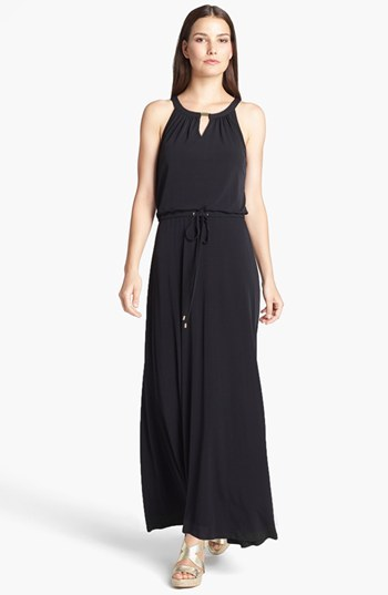 Calvin Klein Keyhole Neck Maxi Dress