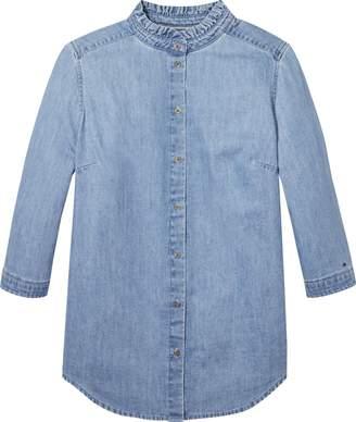 Tommy Hilfiger Tommy Jeans Denim Collar Ruffle Shirt