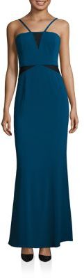 Laundry by Shelli Segal Mesh Insert Gown $295 thestylecure.com