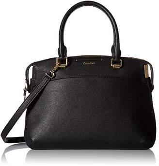 Calvin Klein womens Raelynn Pebble Leather Satchel