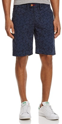 Psycho Bunny Mablethorpe Signature Print Slim Fit Shorts $98 thestylecure.com