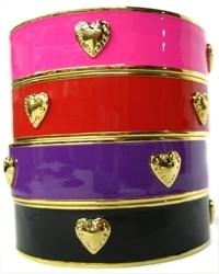 A. V. Max - Enamel & Gold Hearts Bangles **4 Colors**