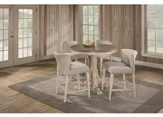 Hillsdale Furniture Clarion Five (5) Piece Round Counter Height Dining Set with Wing Arm Stools