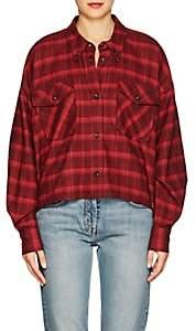 Etoile Isabel Marant Women's Delora Plaid Cotton Blouse - Red