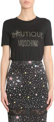 Moschino T-shirt With Studded Logo