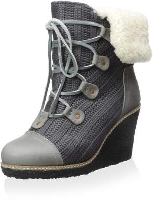 Australia Luxe Collective Women's Mona Lace Up Wedge Hiker Ankle Boot