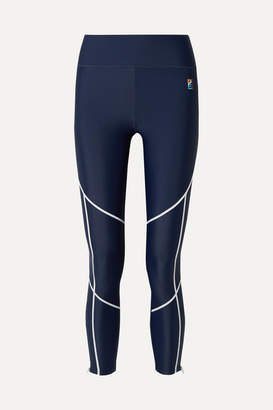 P.E Nation Quarter Force Embroidered Stretch Leggings - Navy
