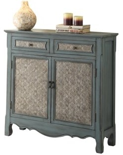 ACME Furniture ACME Wren Console Table, Antique Blue
