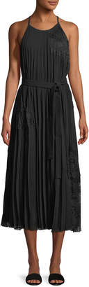 Derek Lam 10 Crosby Sleeveless Pleated Cami Dress with Lace