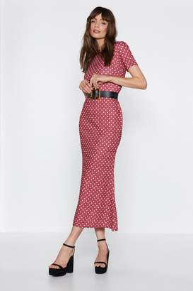 Nasty Gal Bang On Polka Dot Dress