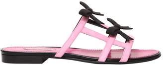 10mm City Bow Suede Slide Sandals