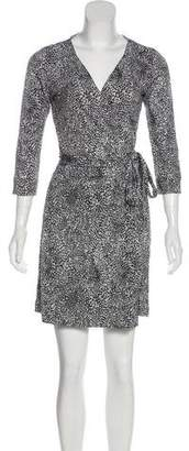 Diane von Furstenberg Wrap Silk Mini Dress