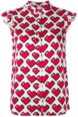 Love Moschino heart pixel blouse