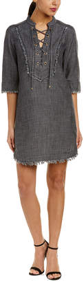 Trina Turk Opening Linen-Blend Shift Dress