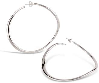 Dinny Hall Silver Wave Xl Hoop Earrings
