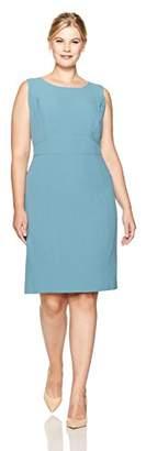 Kasper Women's Plus Size Sheath Dress with Waist Detail