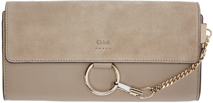 Chloé Chloé Grey Medium Faye Wallet