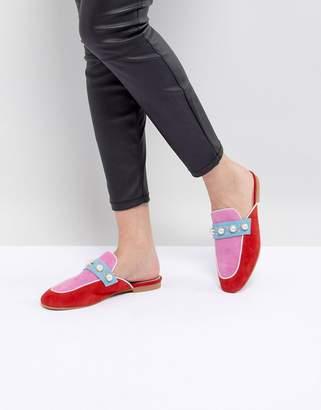 Essentiel Antwerp Pearl Embellished Slip On Loafers