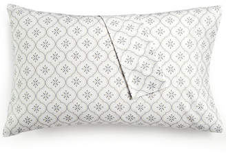 Martha Stewart Collection Closeout! Collection Printed Standard Pillowcase Pair, 400 Thread Count 100% Cotton Percale