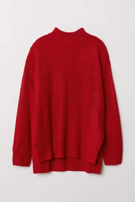 H&M Knit Mock Turtleneck Sweater - Red