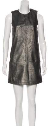 Tomas Maier Leather Shift Dress w/ Tags