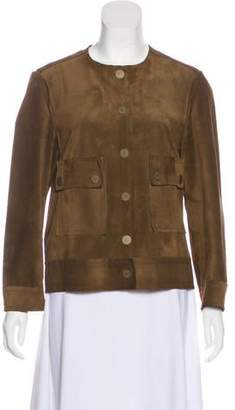 Lanvin Suede Snap-Up Jacket