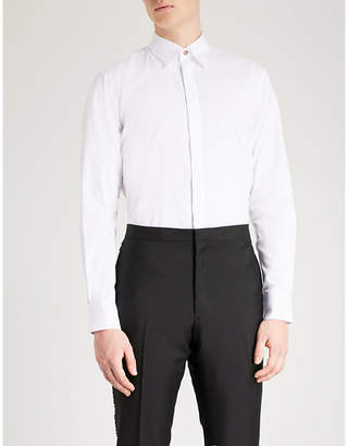 Givenchy Gold buttons slim-fit cotton shirt