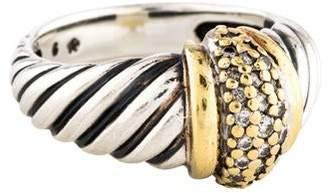 David Yurman Two-Tone Diamond Dome Cocktail Ring
