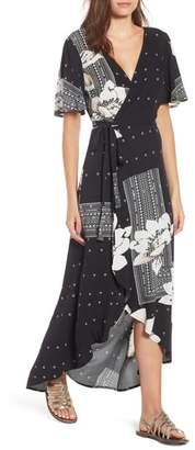 O'Neill Alamante Print Wrap Dress