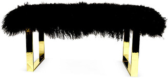 Le-Coterie Curly Bebe Bench - Brass/Black