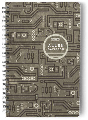 Wired In Day Planner, Notebook, or Address Book