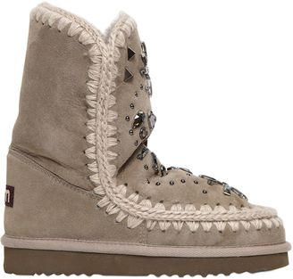 20mm Eskimo Embellished Shearling Boots $378 thestylecure.com