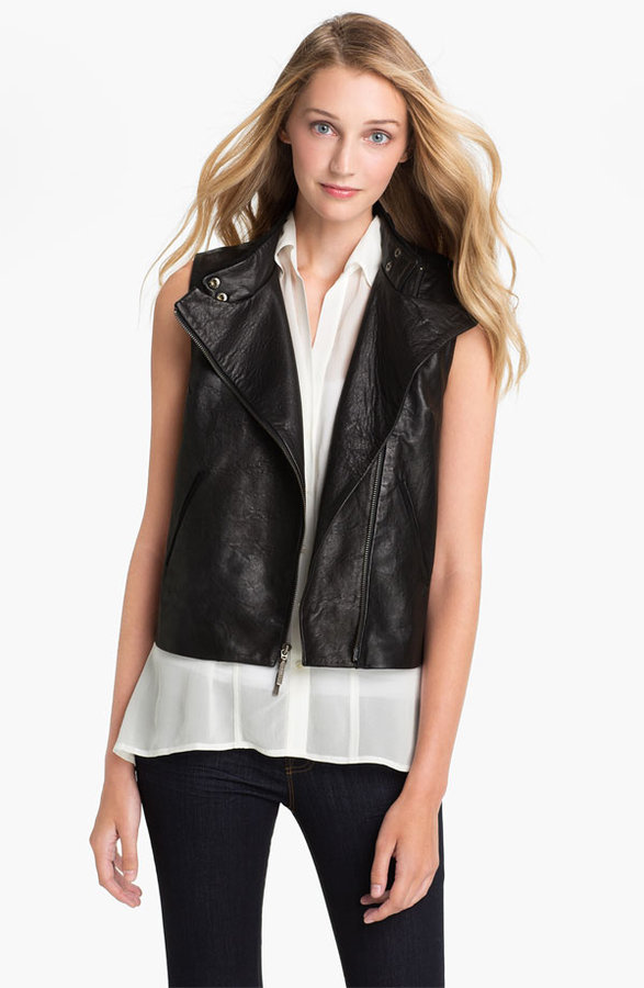 Vince Camuto Two by Zip Back Leather Vest