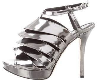 Jerome C. Rousseau Metallic Cage Sandals