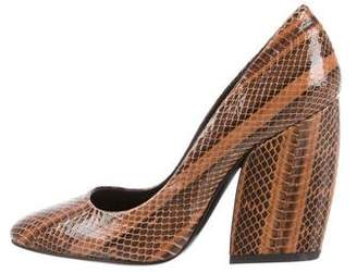 Pierre Hardy Snakeskin Round-Toe Pumps w/ Tags