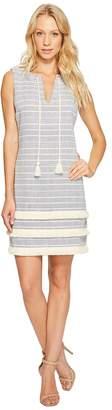 Jessica Simpson Striped Tweed Shift Dress JS7A8997 Women's Dress