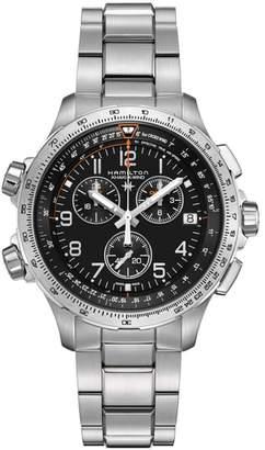 Hamilton X-Wind Chronograph GMT Bracelet Watch, 46mm