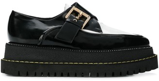 No.21 buckled creepers shoes