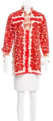 Hermes Silk-Trimmed Printed Tunic