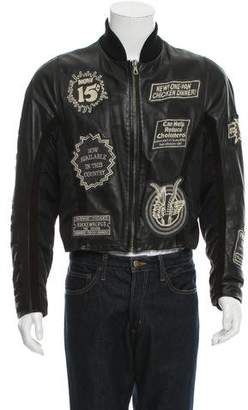 Dirk Bikkembergs Patchwork Leather Jacket