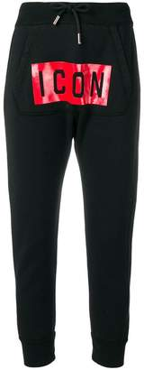 DSQUARED2 icon patch track pants