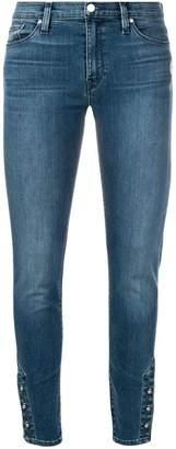Hudson button cuff skinny jeans