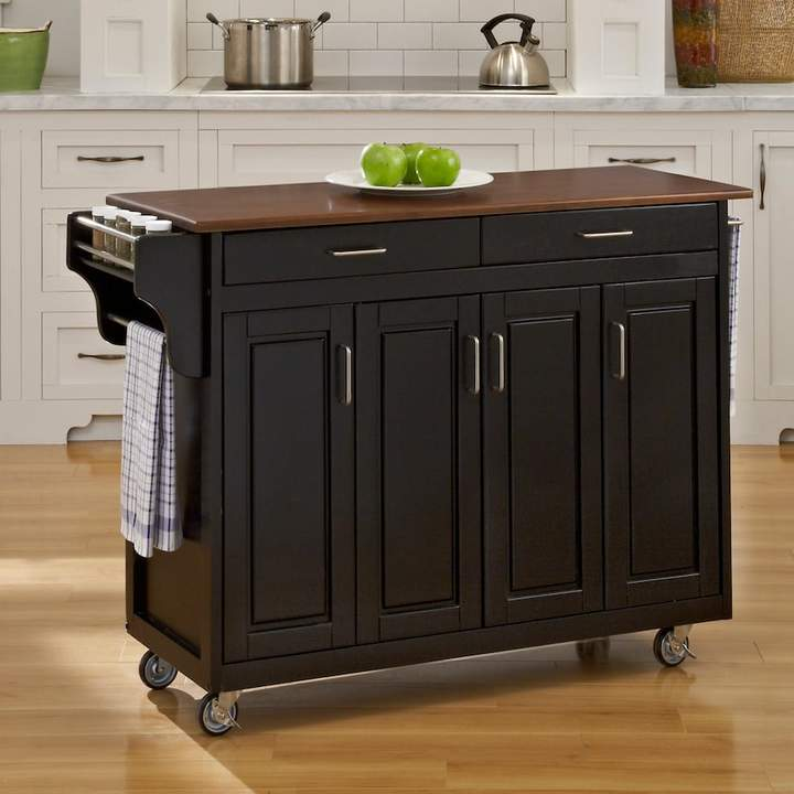 Home Styles Cherry-Top Kitchen Cart