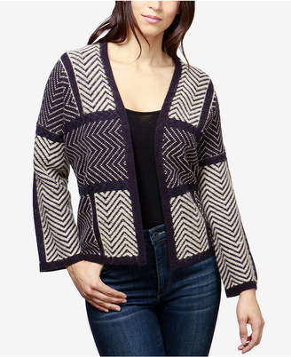 Lucky Brand Open-Front Colorblocked Cardigan
