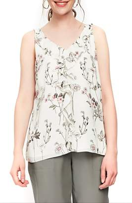 Wallis V-Neck Botanical Ruffled Camisole Top